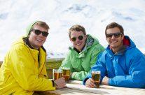Skiing stag weekend