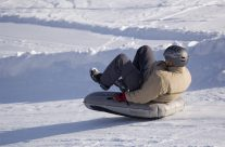 Tubing on the slopes