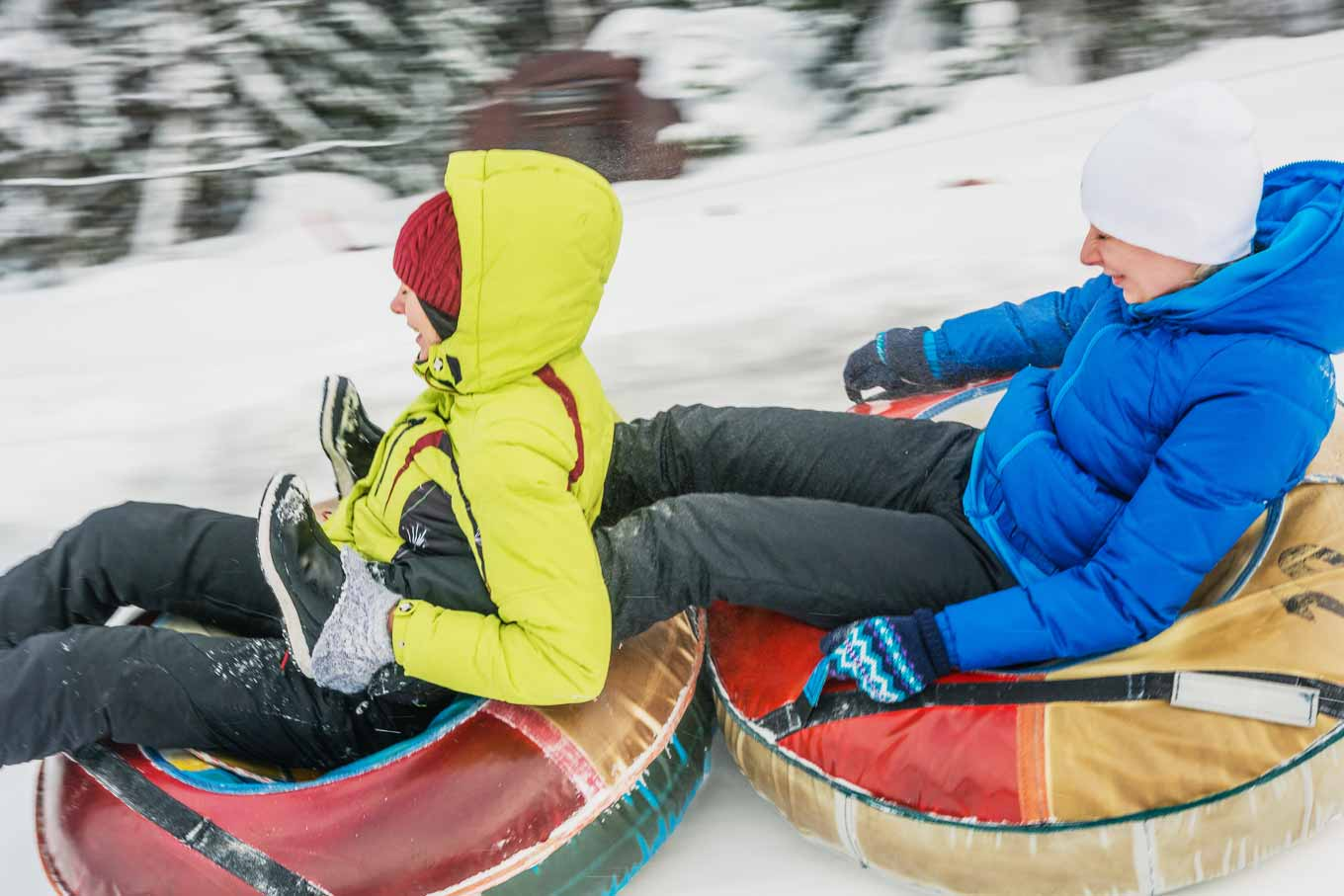 Borovets tubing donuts for ski stag weekends