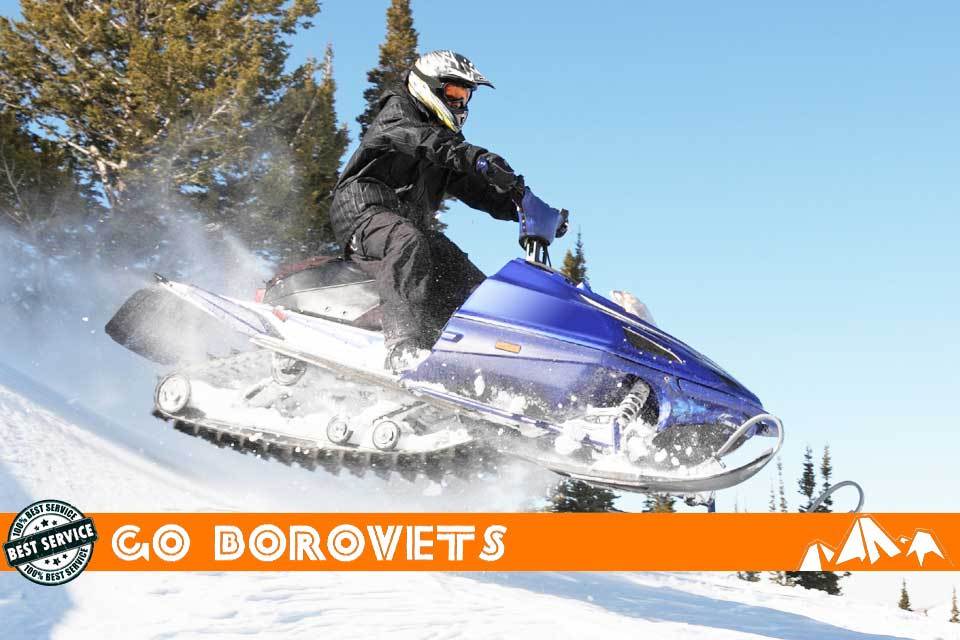 Snow mobiling day tour in Borovets